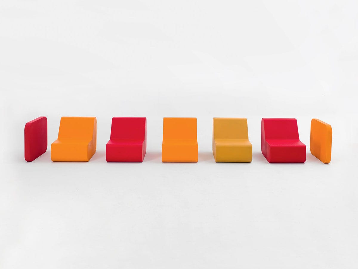 modular sofa / contemporary / plastic / 7-seater and up - 2054 by Valerio  Cometti & V12