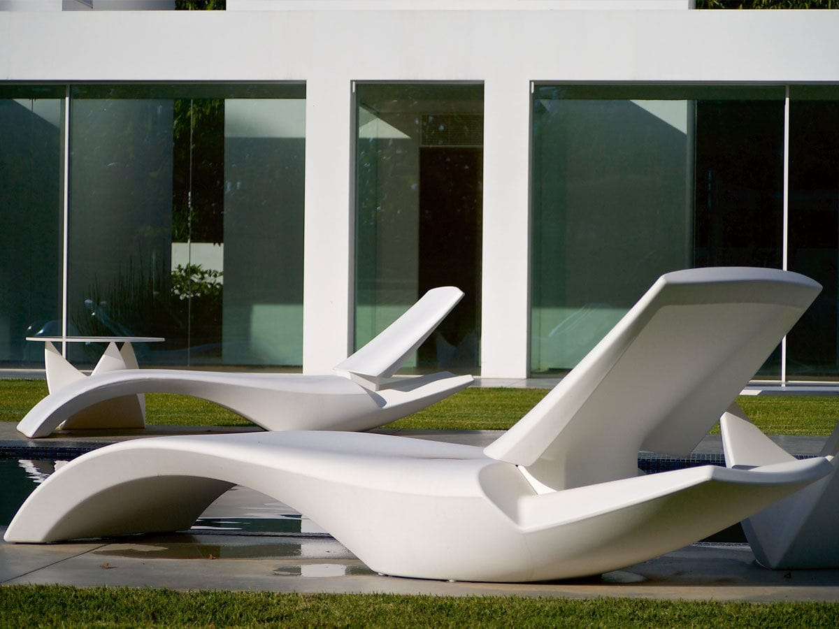 Original Design Sun Lounger Polyethylene Garden Zoe By Moredesign