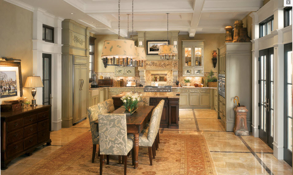 Traditional Kitchen Solid Wood Veneer Wooden Classics