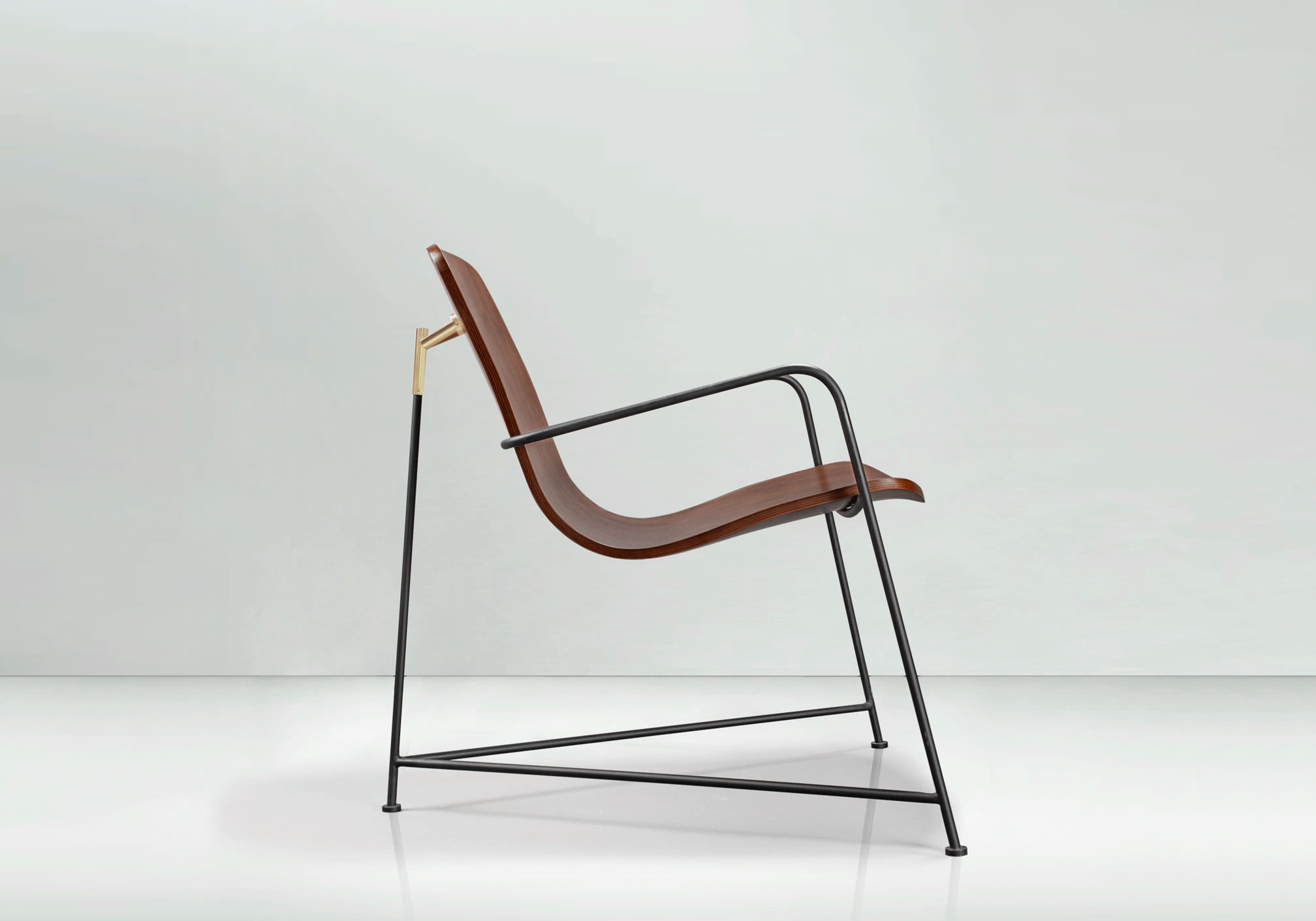 contemporary chair  molded plywood  with armrests  wang  munkii -  contemporary chair  molded plywood  with armrests wang munkii