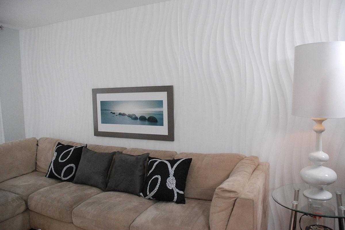 Mur A Mur Design wood decorative panel / wall-mounted / textured / 3d effect - wave a