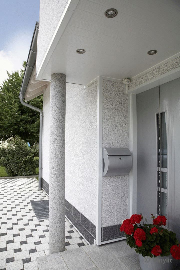 ... Natural stone cladding / textured / brickwork VINYSTONE VINYLIT FACADE  - ITE