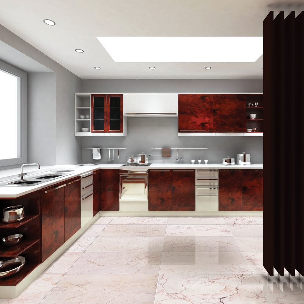 Kitchen Tile Floor Marble Pink Nayyo