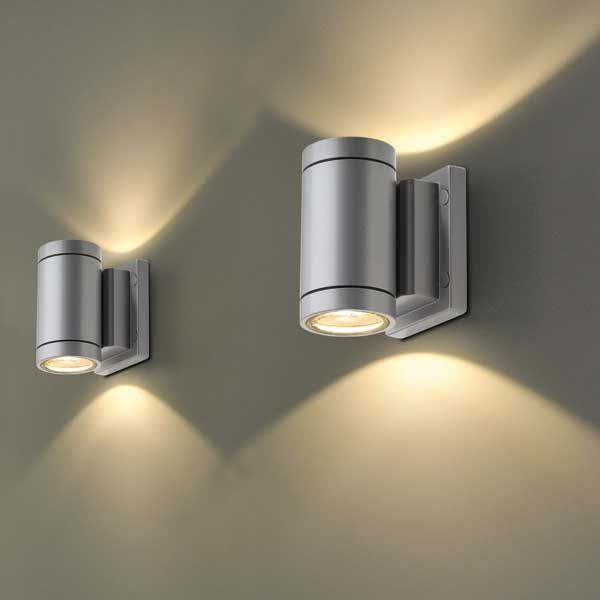 Contemporary wall light garden aluminum led new myra up contemporary wall light garden aluminum led new myra up down mozeypictures Images