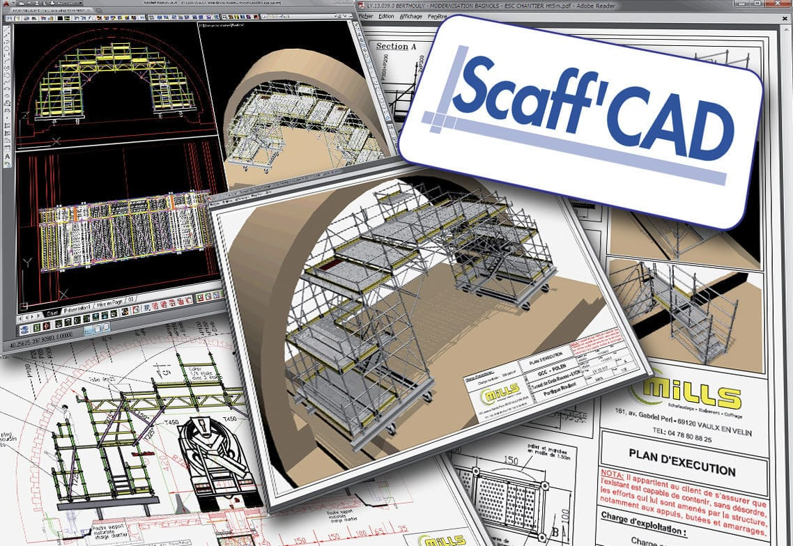 Drawing Software For Steel Structures 3d 2d Scaffcad Mills Diagram