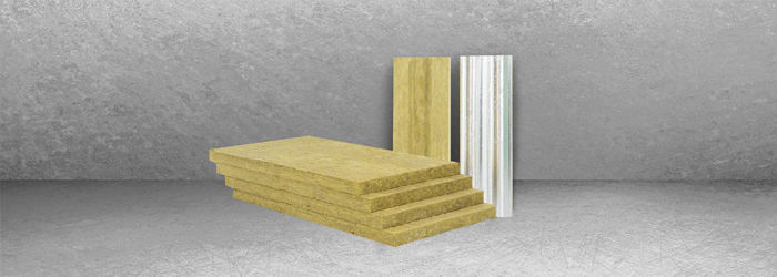 Thermal-acoustic insulation / stone wool / for curtain walls / for ...