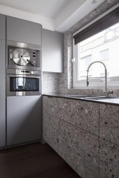 Kitchen tile floor marble matte MODERN VAN DEN WEGHE