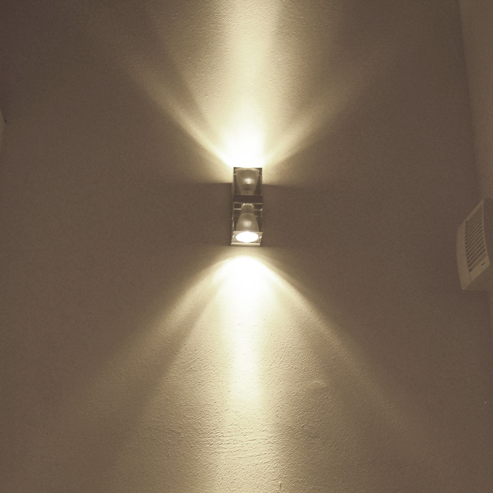 Contemporary wall light / metal / crystal / LED - CUBETTO D28 by ...