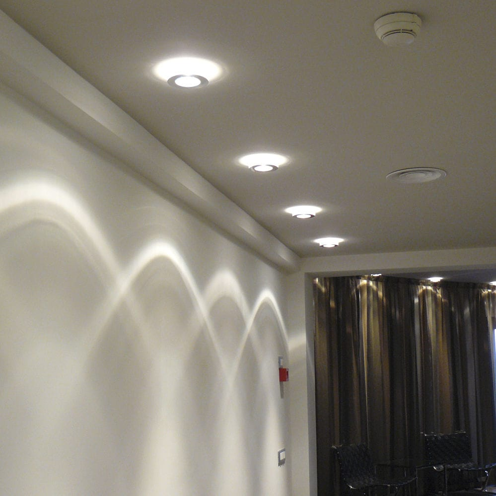 surface mounted downlight led halogen round faretti lei d27