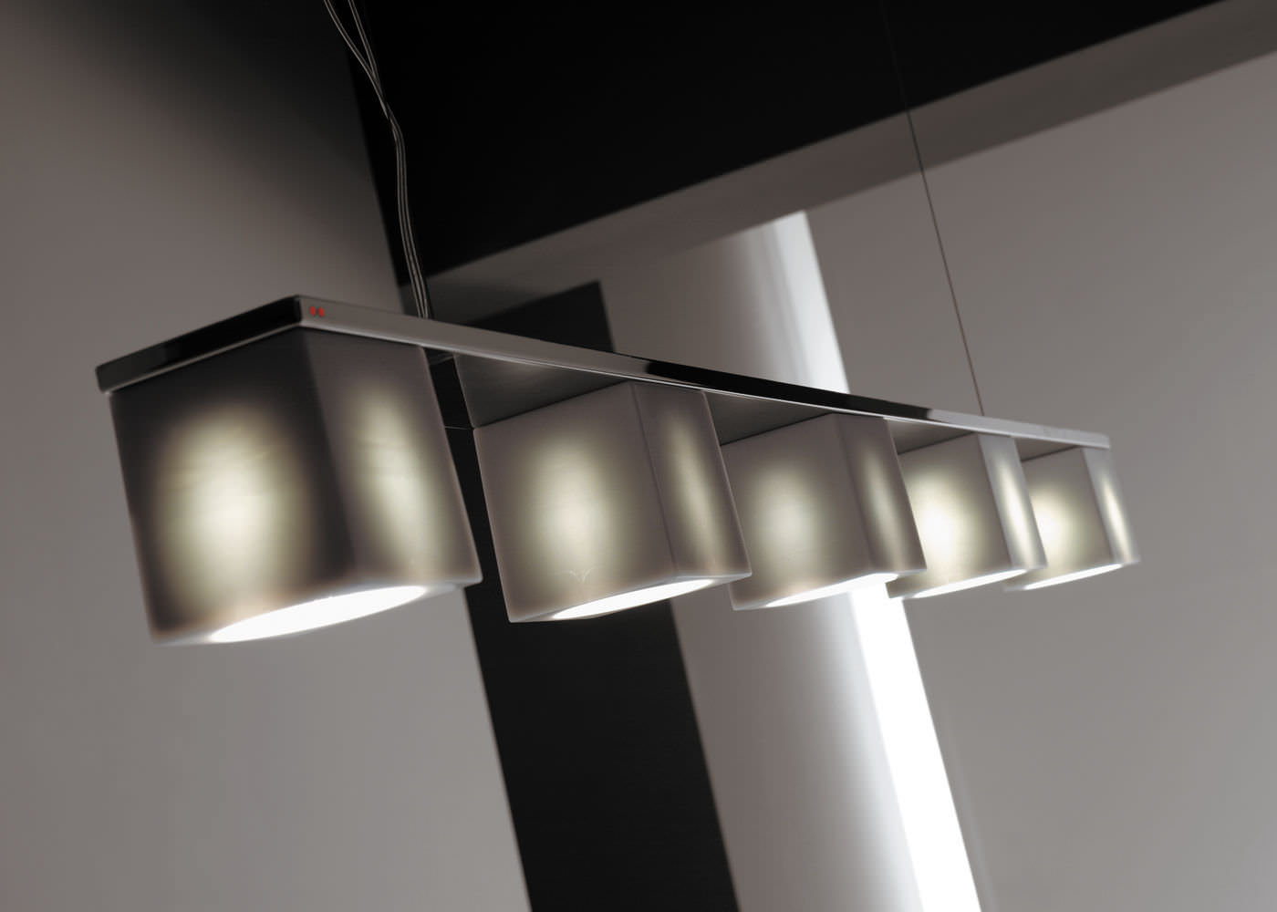 Pendant lamp / contemporary / metal / crystal - CUBETTO D28 by Pamio ...