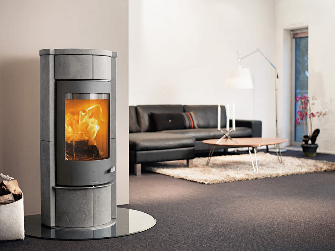 wood heating stove contemporary soapstone sola m lotus