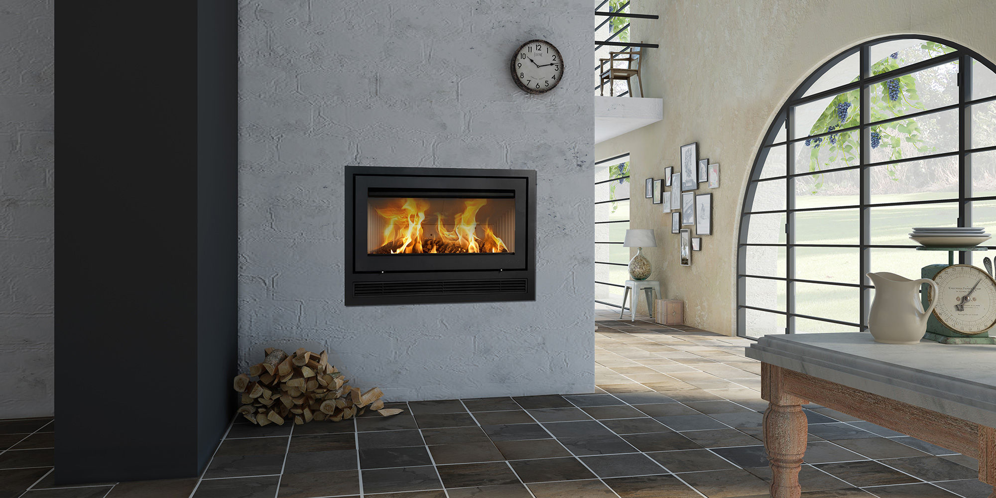wood burning fireplace insert h470 air lotus heating systems a s