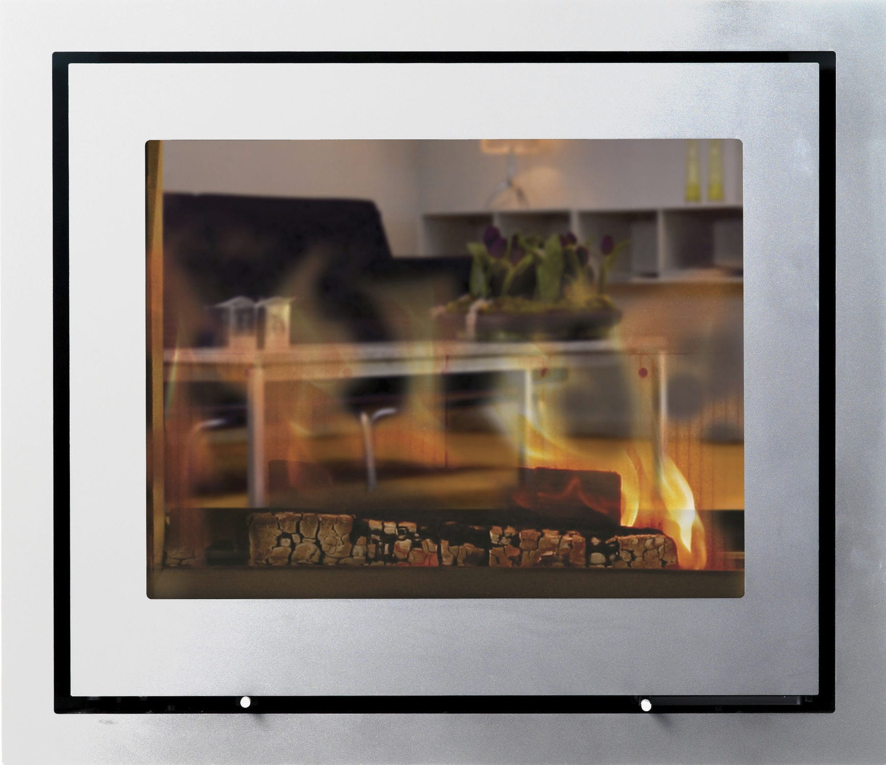 wood burning fireplace insert double sided h570 t r lotus