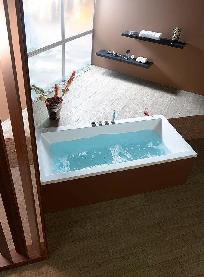 Freestanding bathtub / acrylic / double - MARLENE - Polysan s.r.o.
