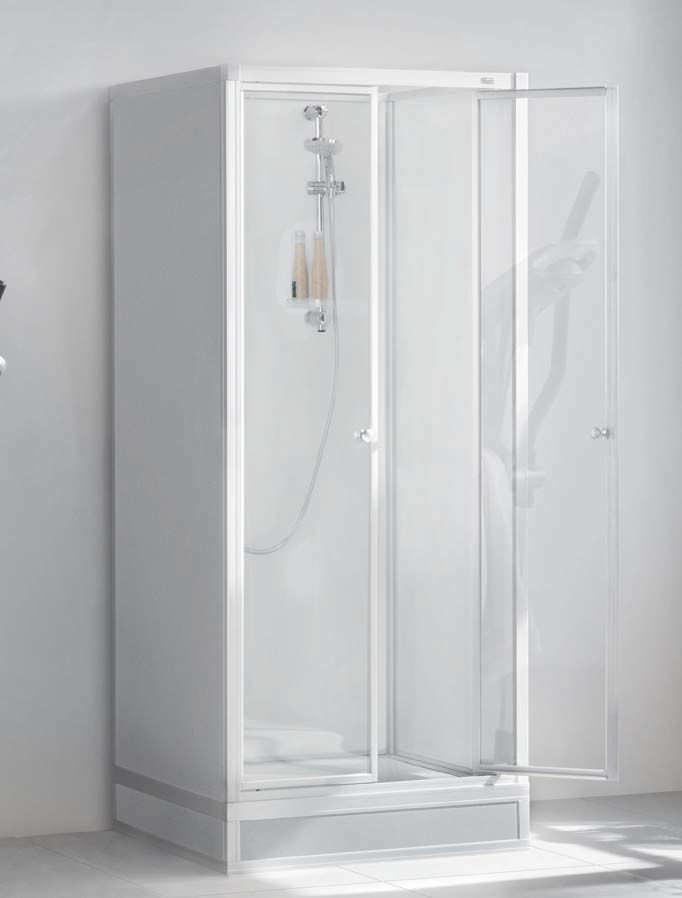 Glass shower cubicle / rectangular / with hinged door - EXKLUSIV ...