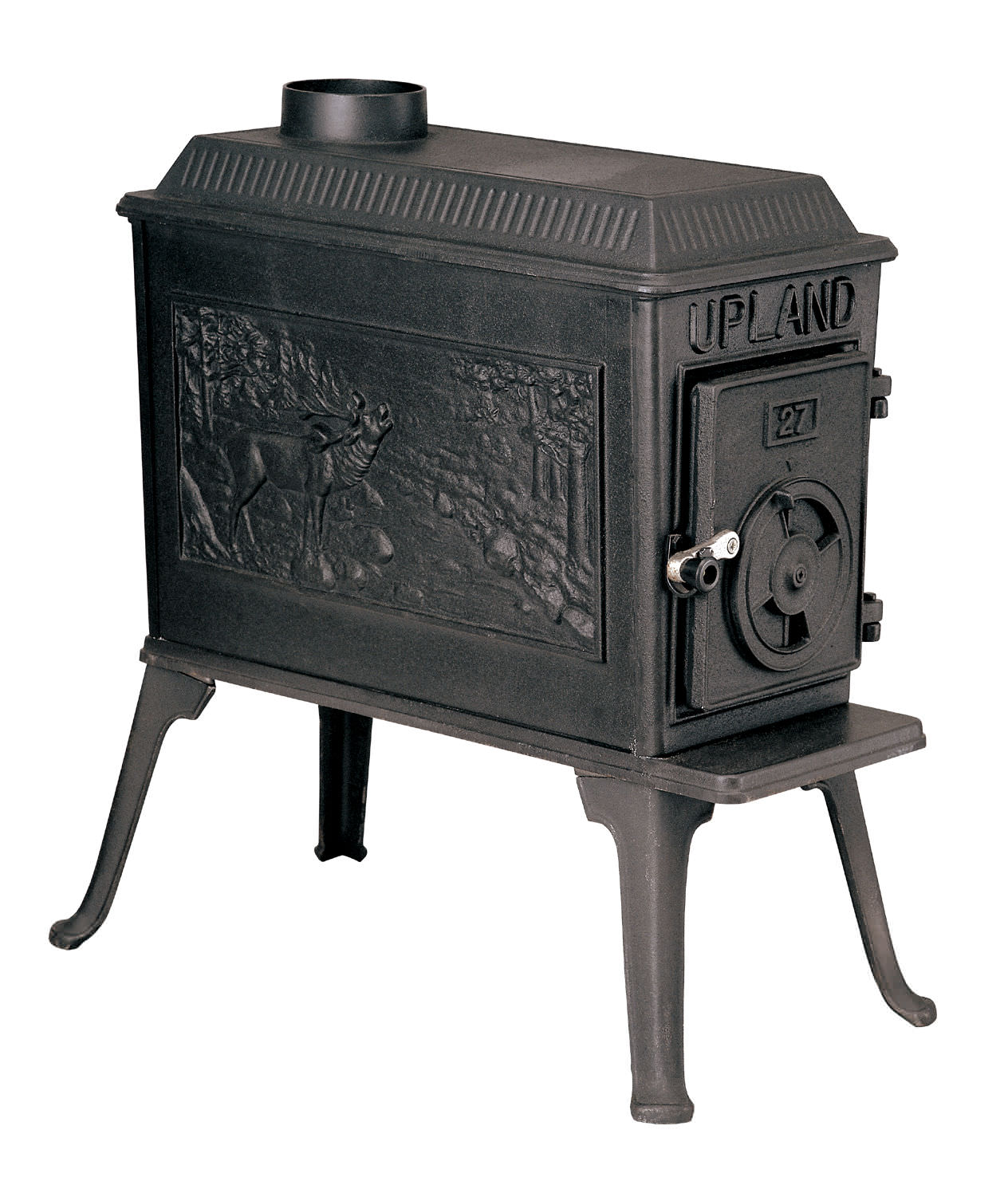 Multi-fuel heating stove / traditional / cast iron - UPLAND ...