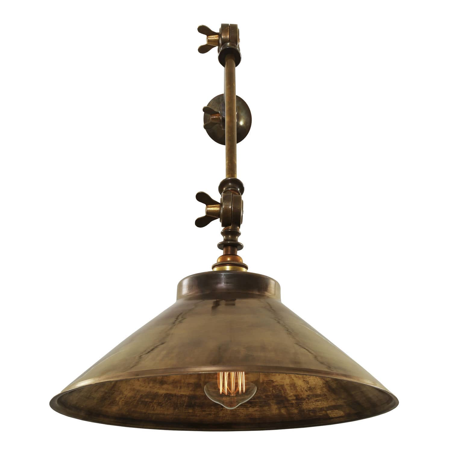 industrial style wall light brass halogen ip20 rio