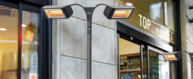 Floor-mounted infrared patio heater / electric / portable - HELIOSA ...