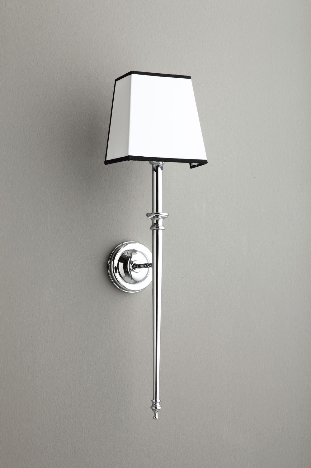 traditional wall light fabric chromed metal incandescent 4