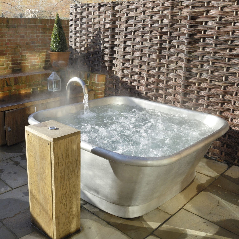 Freestanding bathtub / square / copper / tin - BLEU PROVENCE