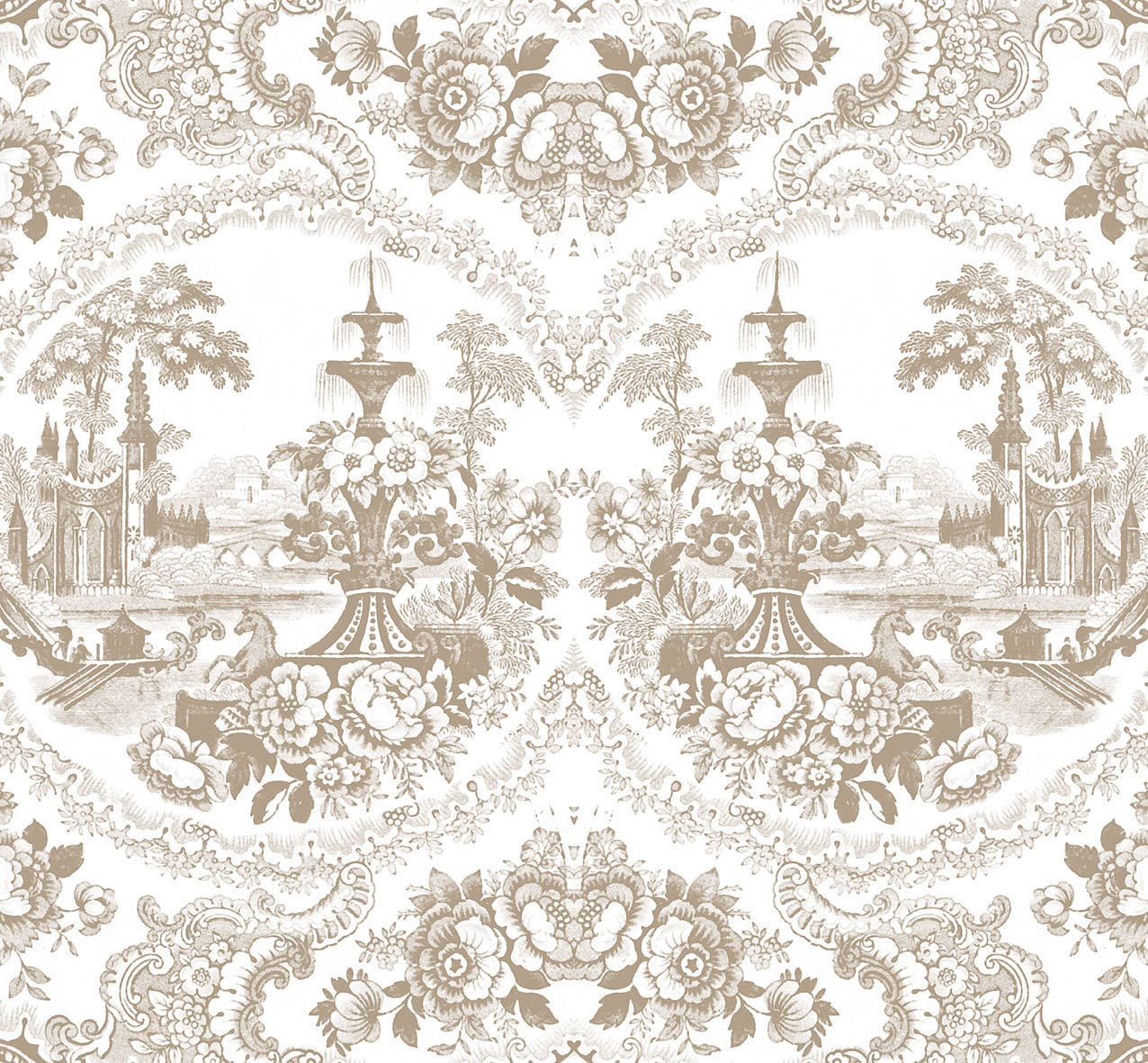 Baroque Style Wallpaper Vintage Fabric Vinyl
