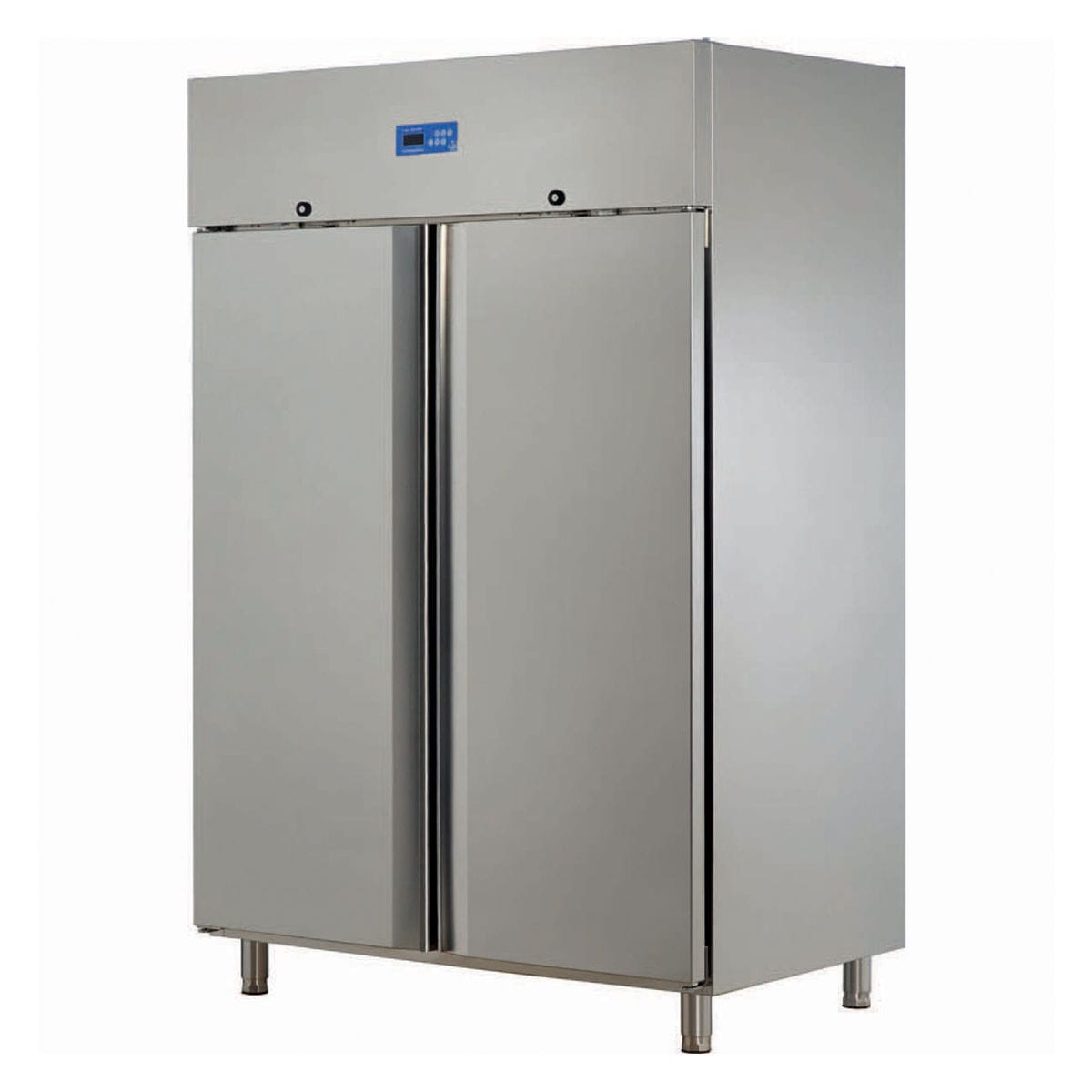 Commercial refrigerator / double door / stainless steel / glazed ...