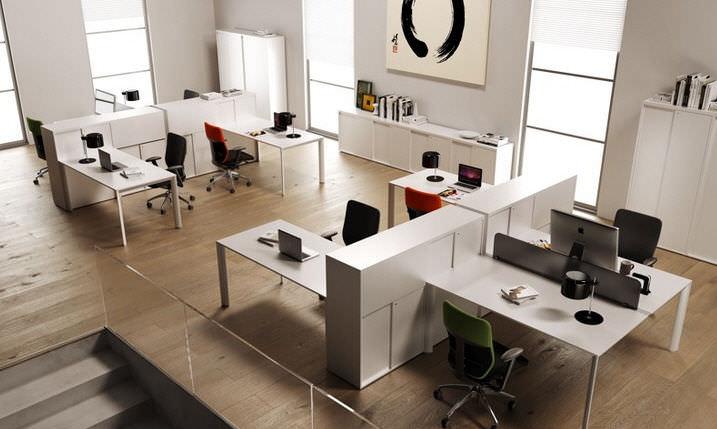 Fabuleux Workstation desk / aluminum / contemporary / commercial - ONLINE 3  FI34