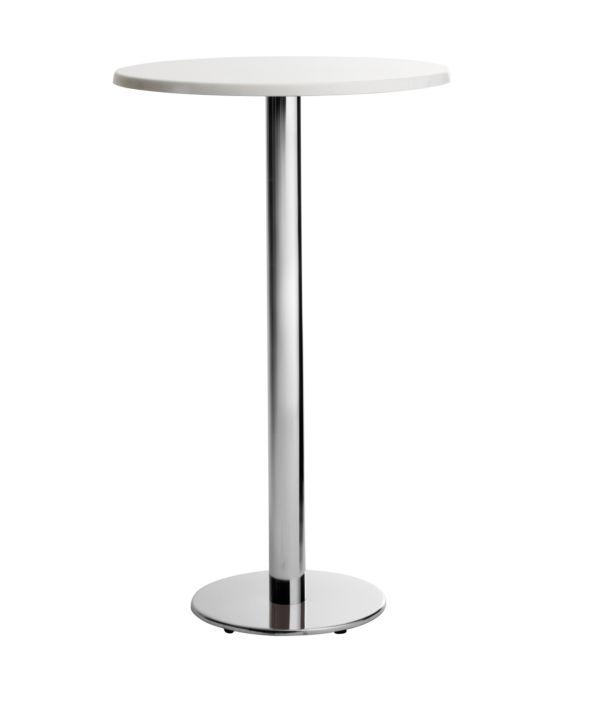 Steel Table Base / Chromed Metal / Contemporary / For High Bar Tables    POLLUCE R