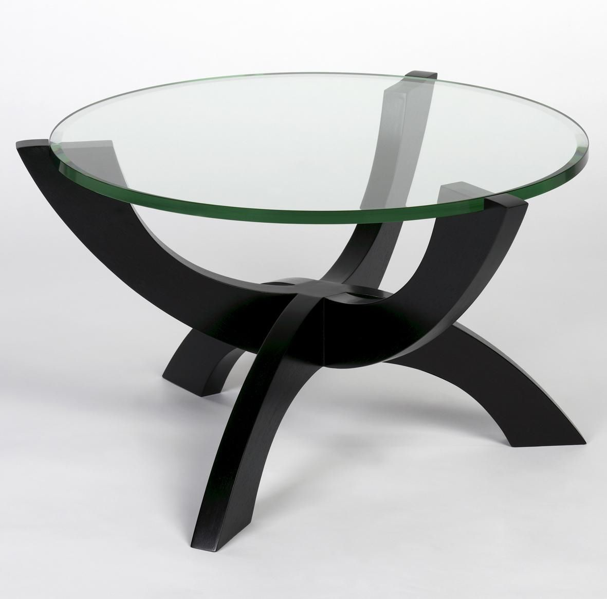 Contemporary Coffee Table Glass Round