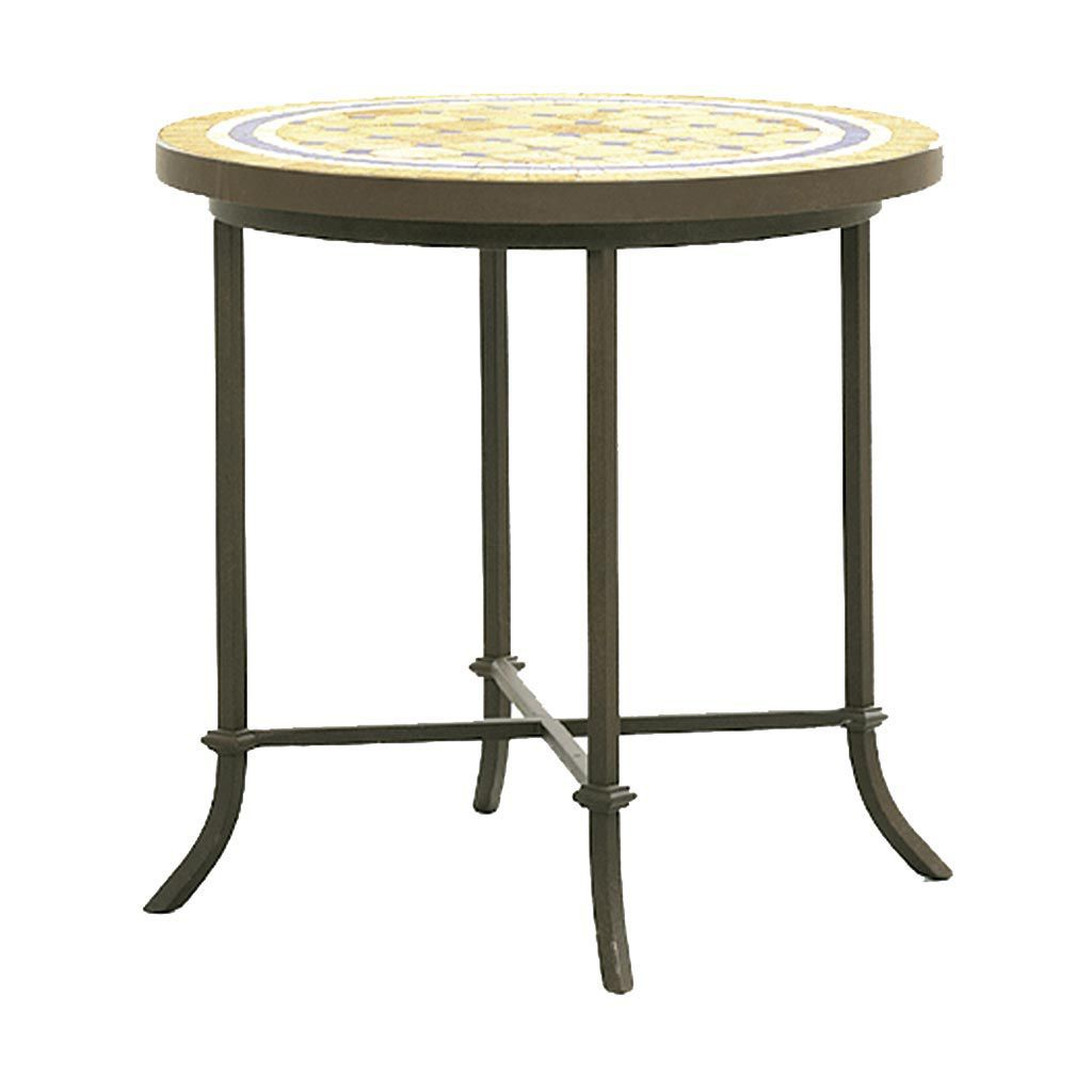 Traditional Side Table / Wrought Iron / Round   H 1100