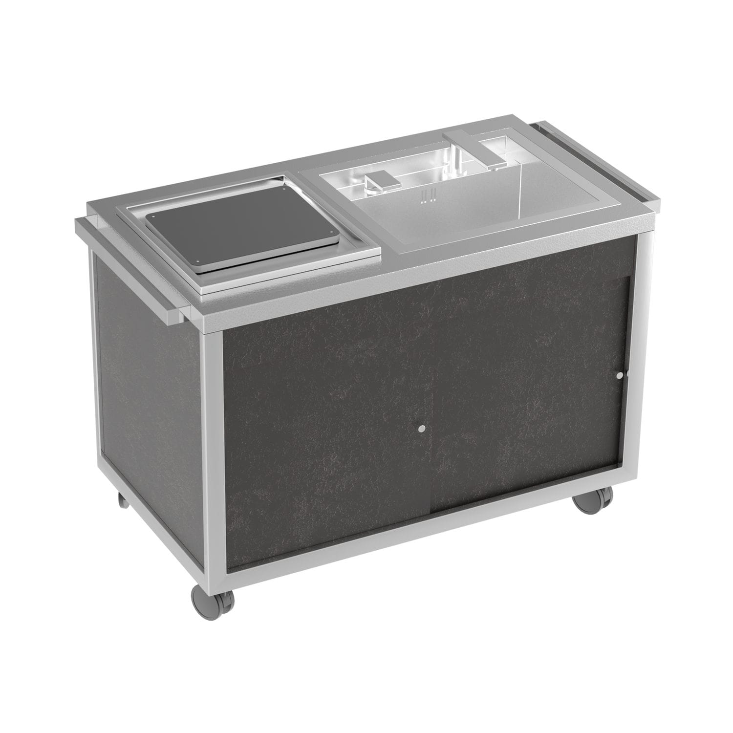 Charmant Stainless Steel Prep Table / On Casters / With Sink   MULTI USE