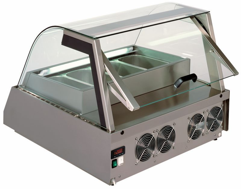 Countertop Refrigerated Display Case Illuminated Ice Cream For S