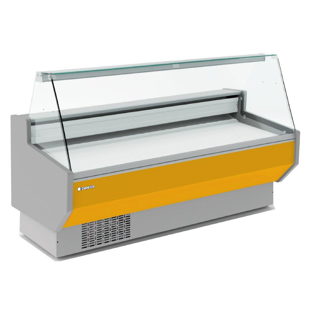 Refrigerated counter display case / for frozen food / for shops ...