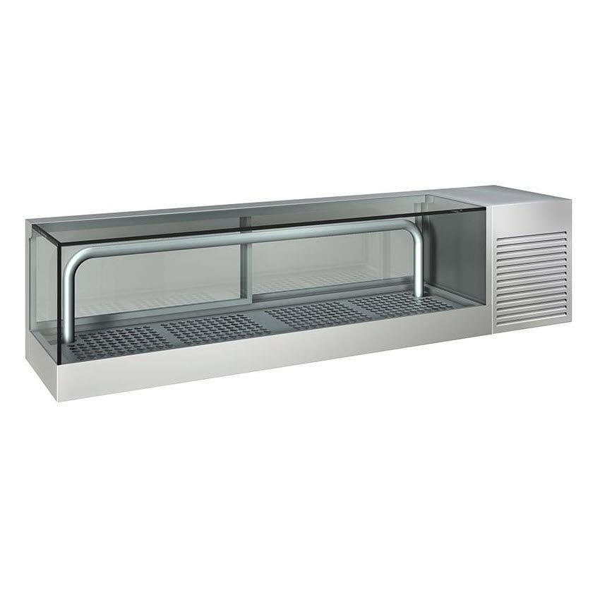 glass countertop display industries four cooler refrigerated sided case refrigerator cases bakery countertops excellence