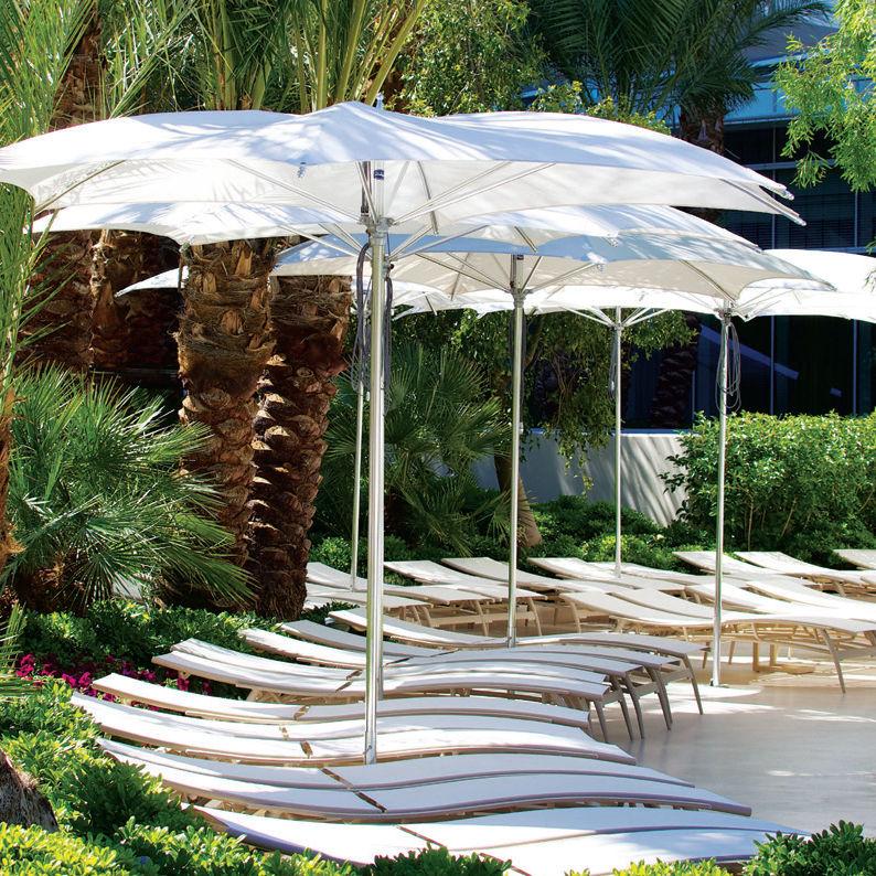 Commercial Patio Umbrella / Fabric / Aluminum   OCEAN MASTER : CRESCENT