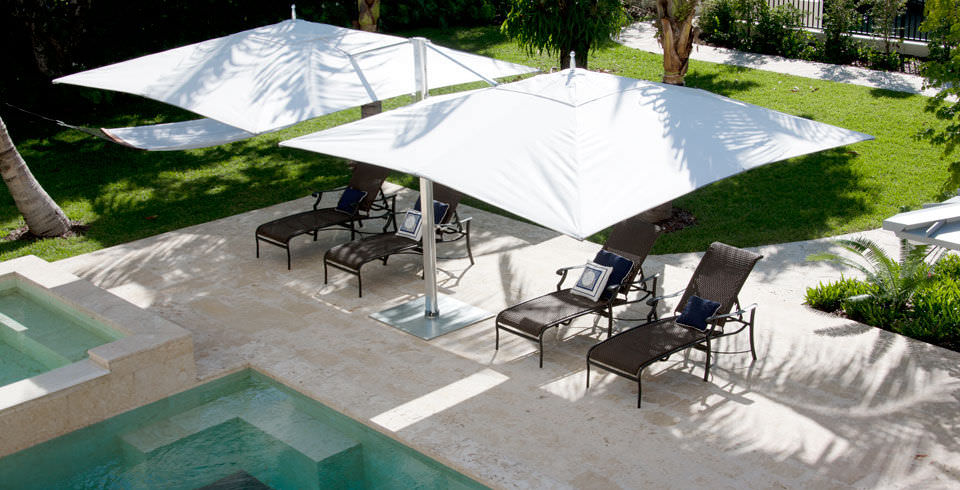 Amazing ... Double Patio Umbrella / Commercial / Fabric / Aluminum OCEAN MASTER MAX  : DUAL CANTILEVER TUUCI ...