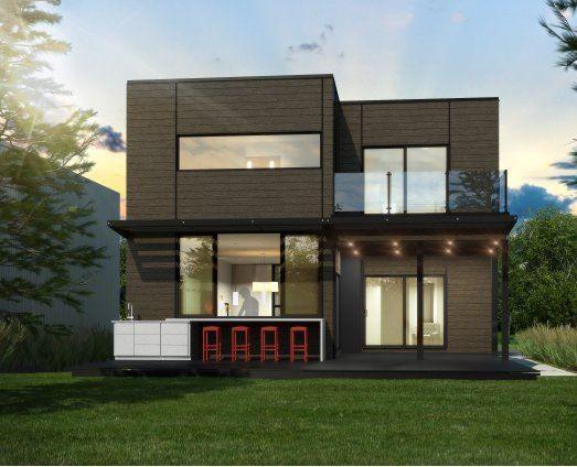 Prefab House Contemporary Two Story Maison Industries Bonneville