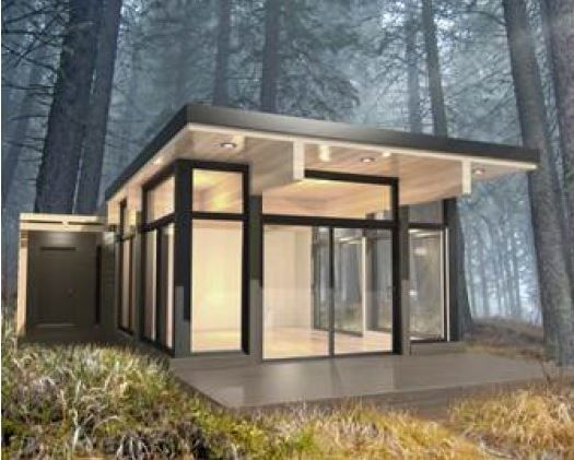 Prefab microhouse contemporary CHC SHACK Industries Bonneville