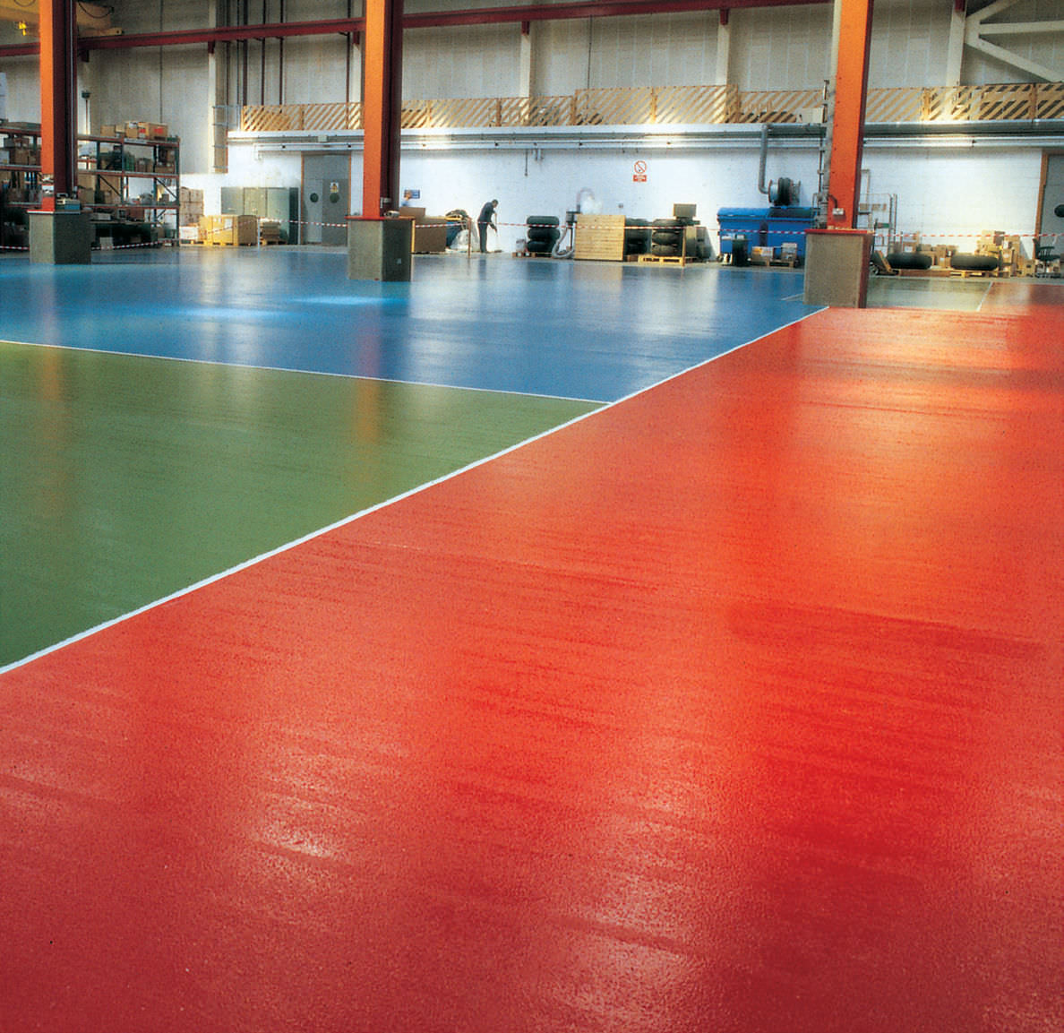 Liquid Epoxy Resin Flooring / Waxed / Waxed Concrete Look / High Resistance  WATER BASED ...