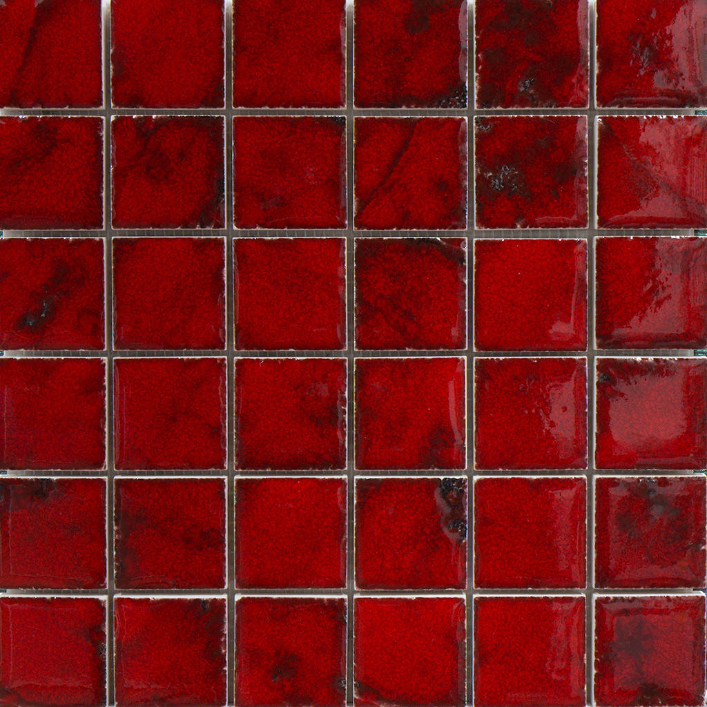Indoor Mosaic Tile Wall Porcelain Stoneware Square Sardegna Red 48