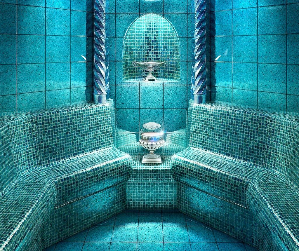 Turquoise Tile indoor tile / bathroom / floor / cement - lavica : turquoise lava