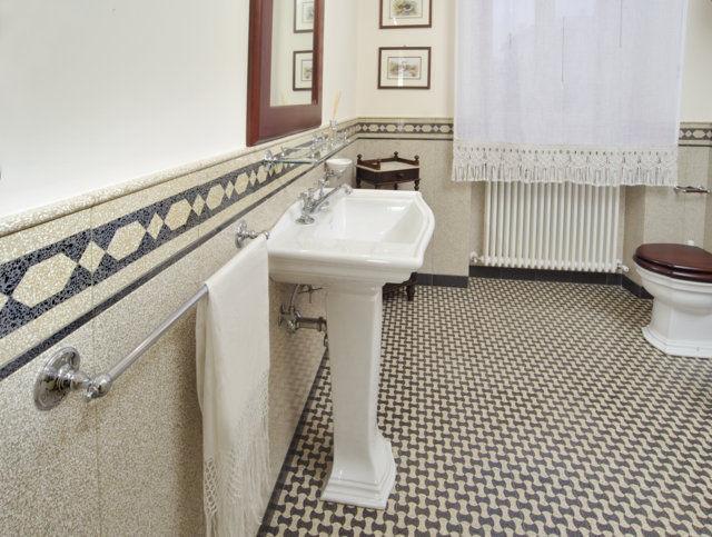 Bathroom Tile Floor Terrazzo Geometric Pattern T61