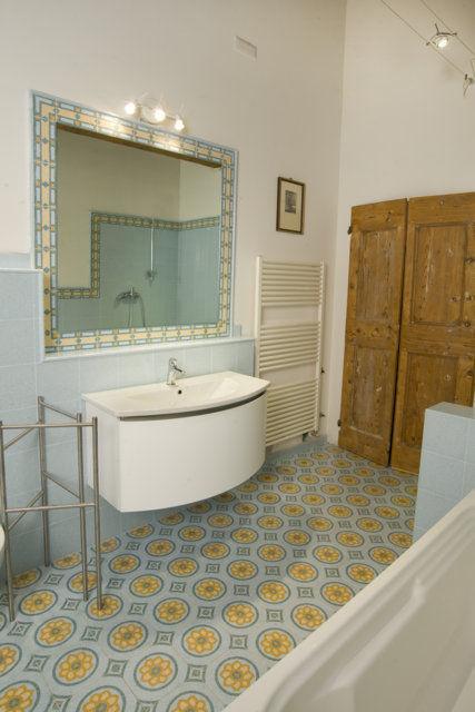 Bathroom Tile Floor Terrazzo Victorian Pattern Ds7