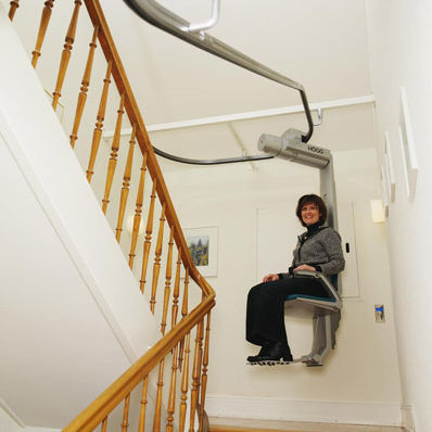 Indoor Chair Stair Lift / Power Operated / Rotating   DOMINO SL 50