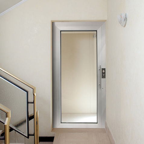 Aluminum Elevator Door Swing Security Glass Glazed Extrema