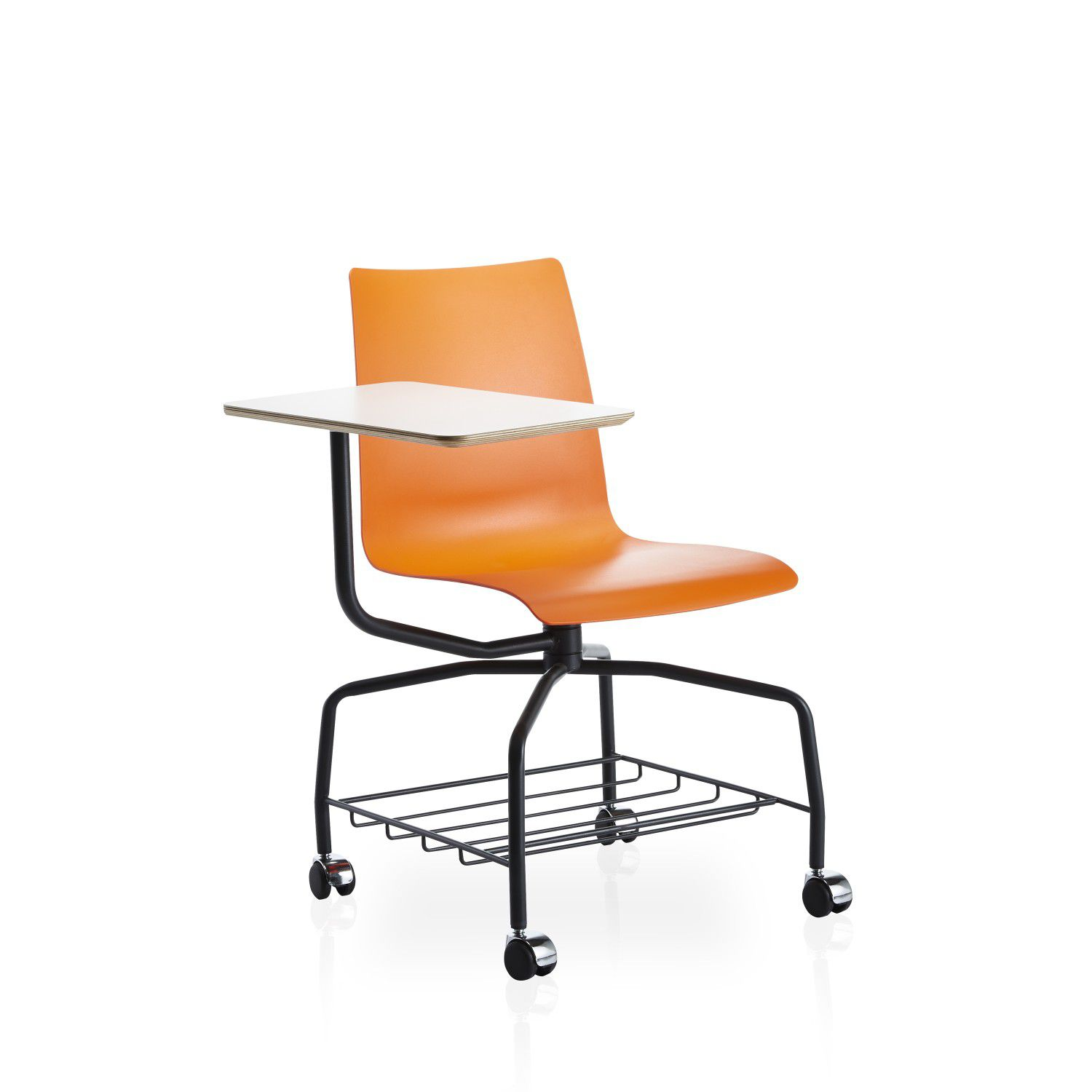 Conference Chair On Casters / Tablet / Adjustable / Metal   CANTATA By  Faruk Malhan