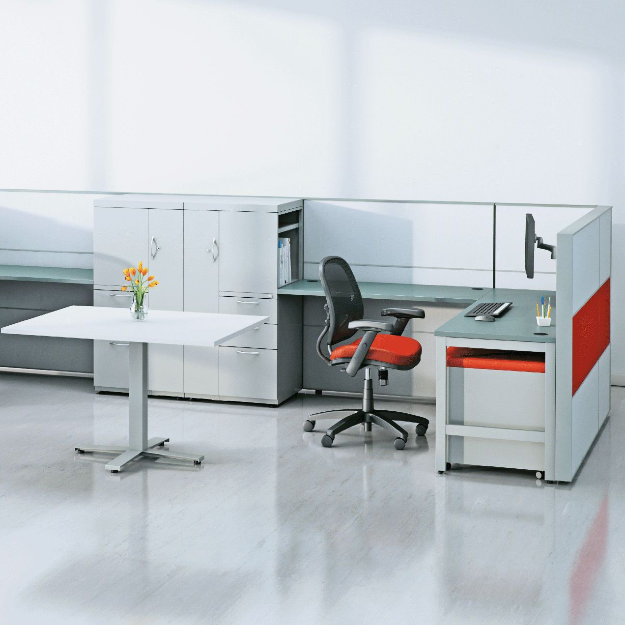 Countertop Office Divider Floor Mounted Laminate Glass