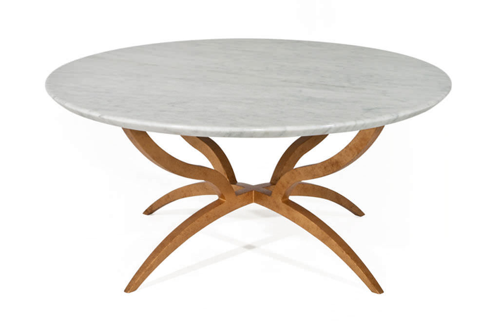 Contemporary Dining Table / Glass / Wrought Iron / Round