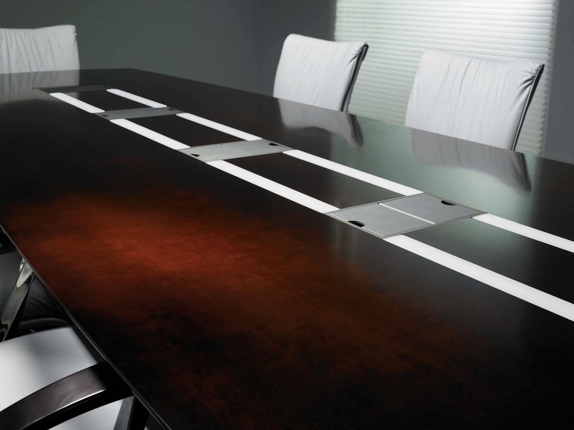 Contemporary Conference Table Wooden Rectangular With Integrated Electrical Outlet