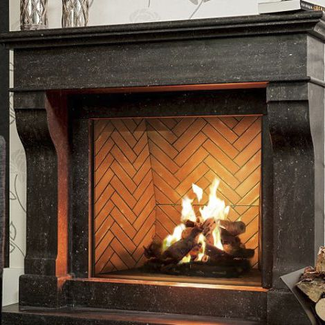 Gas Fireplace Traditional Open Hearth Built In Minimal 110